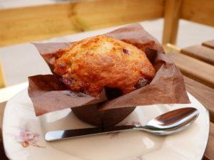 Muffin framboises chocolat blanc Lag