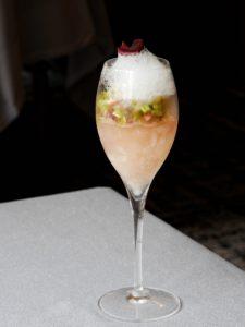 Champagne / rhubarbe / rose