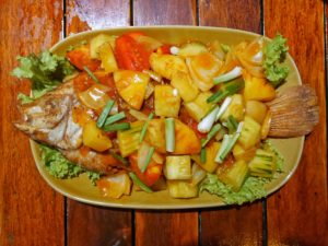 Thaïlande-poisson ananas aigre douce