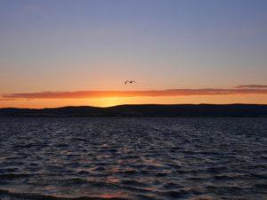 Frontignan coucher de soleil étang d'Ingril